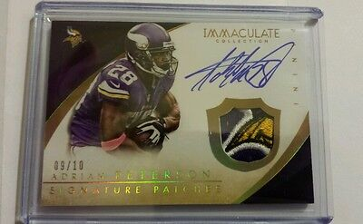 2014 Immaculate Adrian Peterson Patch Auto /10 LOGO Signature Patches Gold 1/1