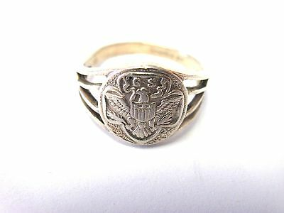 Edwardian 1910s Ostby BARTON Sterling Silver GIRL SCOUT Ring Rare!
