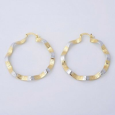 Gorgeous 14K Solid Yellow Gold Filled Hoop Style Womens Jewelry Earrings E051