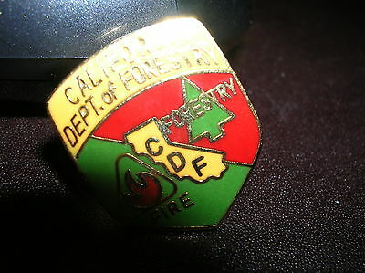 """CALIFORNIA Department or Division of Forestry CDF 1"""" Mini Badge PIN Fire"""