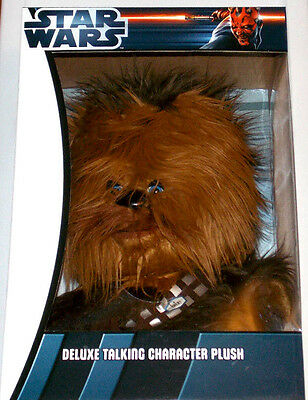 ~NEW~ Star Wars Deluxe Talking Character Plush Chewbacca Underground Toys RARE