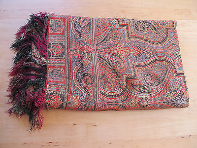 Antique Paisley Victorian/Edwardian Shawl or Piano Cloth - Unusual Pattern