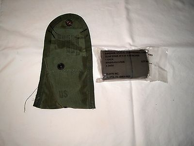 U.S. Military Nylon First Aid Pouch w/ Alice Clip & Compressed Field Bandage