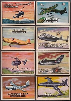 1952 Topps Wings Complete 200 Card Set Military Airplane Jet