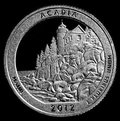 2012 S Acadia Maine ~ National Parks ~ America the Beautiful ~ 90% Silver