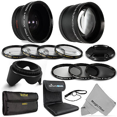 58MM Professional Lens Filter Kit for Canon Rebel T4i T3i T3 T2i T2 T1i XS XSi