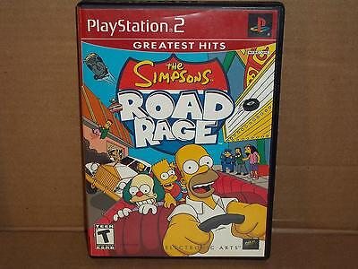 THE SIMPSONS ROAD RAGE GREATEST HITS VIDEO GAME PLAYSTATION 2 PS2 COMPLETE HOMER