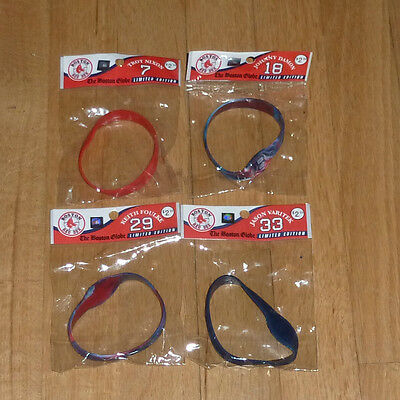 4 Boston Globe Limited Edition Red Sox  bracelets rubber silicone wristband