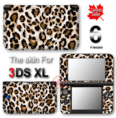 Leopard Pattern NEW SKIN VINYL STICKER DECAL COVER for Nintendo 3DS XL