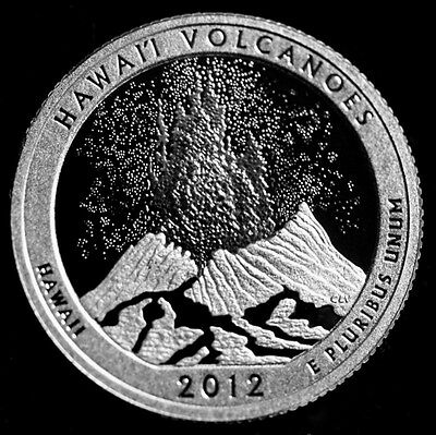 2012 S Volcanoes HI America the Beautiful National Parks ~ 90% Silver