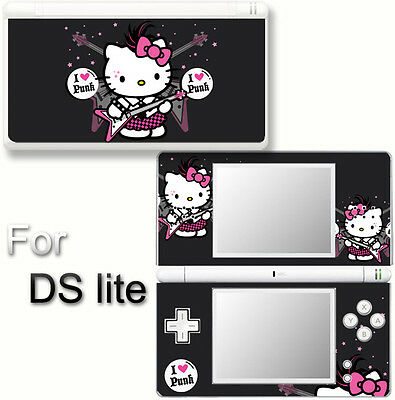 Hello Kitty Punk Cute SKIN DECAL VINYL STICKER COVER for Nintendo DS Lite