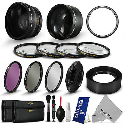 Essential Lens Set + UV CPL & Close Up Filter Kit for Canon PowerShot SX50 HS