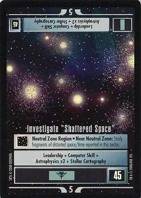 Investigate Shattered Space - VR Foil - Star Trek CCG 1E Reflections - Decipher