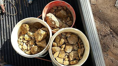Gold / Silver Raw Paydirt Head Ore 20 Lbs NOT Milled, Straight From the Vein