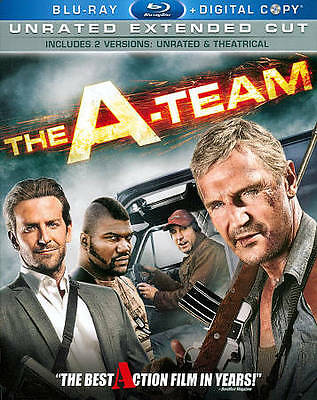 THE A-TEAM BLU RAY MOVIE!! UNRATED EXTENDED CUT!! ~ 2-DISC SET! LIKE NEW!!