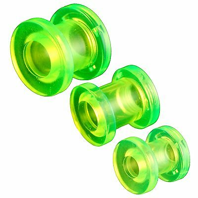 ear expander kit 2g 0g gauge 6mm 7mm 8mm Green flesh tunnel plug 3 Pairs 9JMB