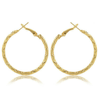 Stylish European Pattern Retro Wild Exaggeration Special Big Hoop Party Earrings