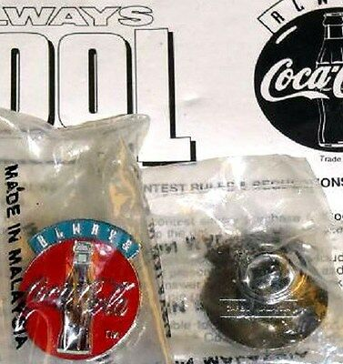 Coca-Cola Coke Hat Lapel Always Cool PROMOTIONAL CONTEST Pin NEW PROMO PACKAGED