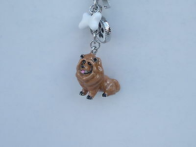 Chow Chow Dog Key Ring Or Bag Charm Handpainted