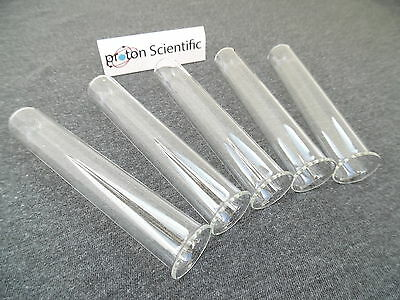 Glass Test Tubes 5 x Kimble Brand 16mm x 100mm With Rims ( Pack of Five )