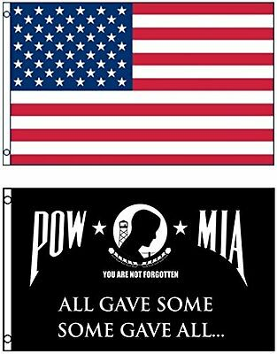 Wholesale LOT 3' X 5' USA & Pow Mia All Gave Some Some Gave All FLAG Banner 3X5