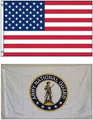 Wholesale LOT 3' X 5' U.S. AMERICAN & US Army National Guard FLAG Banner 3X5