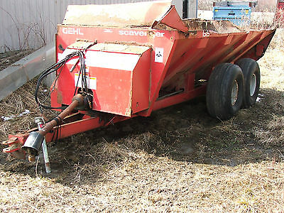Gehl scavenger manure spreader firewood log trailer portable mill lumber trailer