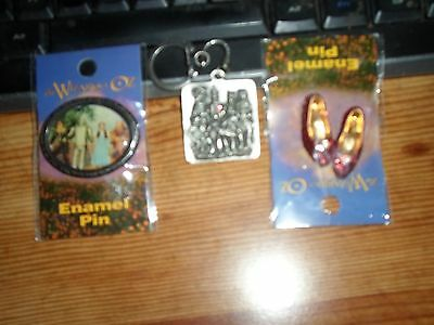 2  WIZARD OF OZ  PINS AND A  KEY CHAIN OF  THE 4 CHARACTERS