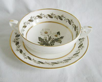 Royal Worcester BERNINA  One  cream Soup Boullion Bowl with saucer