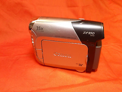 Canon ZR850 Mini DV camcorder 35x Optical zoom Camera Tested Working