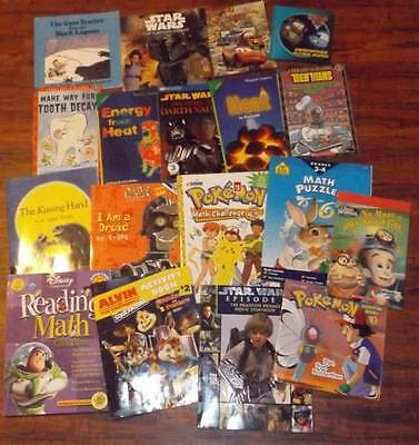 Lot of 18 Books & Workbooks Toddler & Youth Star wars & MORE
