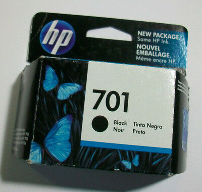 GENUINE HP 701 Black Ink Cartridge (HP CC635A) NEW SEALED!!! 2014 FAST FREEship