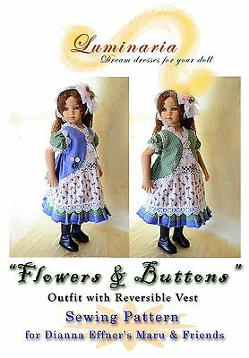 """PATTERN to Make Dress, Clothes, Outfit for 20"""" Dianna Effner's Maru And Friends"""