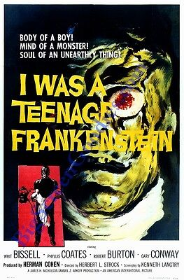 'I WAS A TEENAGE FRANKENSTEIN' POSTER ART - HI-QUALITY 8X10 REPRO