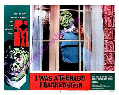 'I WAS A TEENAGE FRANKENSTEIN' MONSTER LOBBY CARD - HI-QUALITY 8X10 REPRODUCTION