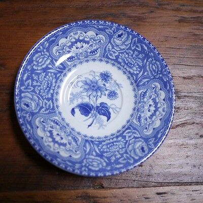 "Spode Blue Room Collection Reproduction 1830 ""Floral"" Flow Blue Saucer Plate 5"""