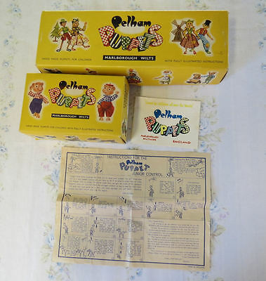 Vintage Pelham Puppet Lot of 2 Box Only Horse Foal Harrod's Tag Instructions
