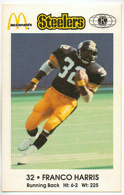1984 Pittsburgh Steelers police / McDonald's / team issue set near mint ( 16 )
