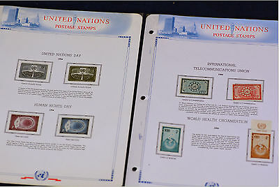 United nation 1956 postage stamps, United nation day,  Human rights,