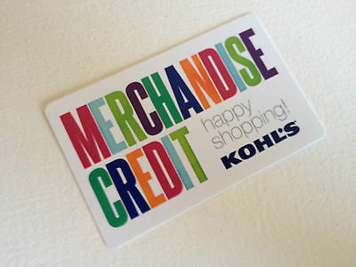 Kohl's Merchandise Store Credit $40.80 Gift Card