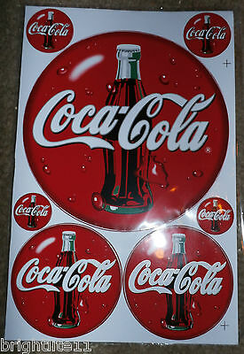 "New Seven Vinyl Coca~Cola Decal Approx. 10"" X 8"""