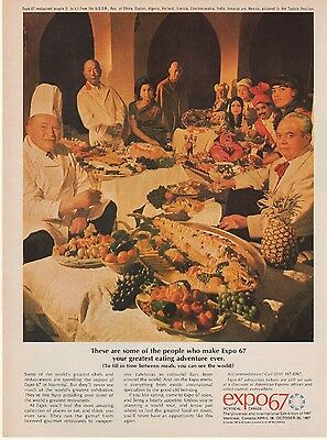 Worlds Greatest Chefs Expo 67 AD Restaurant 1967 Montreal Quebec Canada Vtg BB69