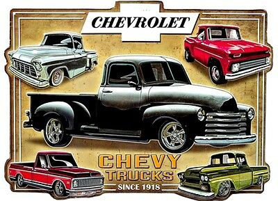 CHEVROLET TRUCK SIGN EMBOSSED Chevy NASCAR GM Corvette Ford Mobil NASCAR 1950