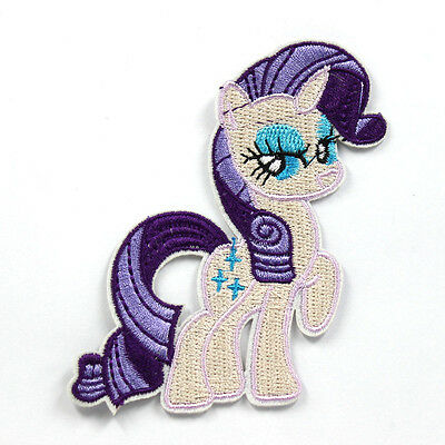 """My Little Pony Rarity Embroidered Iron/Sew ON Patch Cloth Applique 3.0X 2.7"""""""