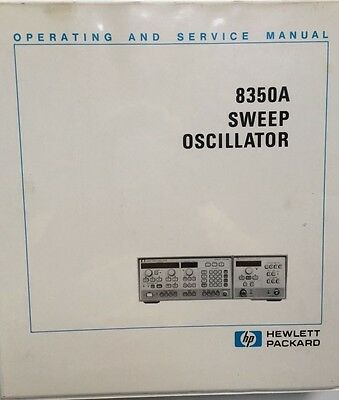 HP 8350A Sweep Oscillator Operating & Service Manual P/N 08350-90001