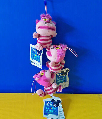 ONE PIECE ONLY BNWT Disney Sega 9cm Wide Mouth Cheshire Cat plush soft toy doll
