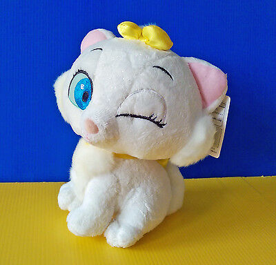 BNWT EXTREMELY RARE 2005 15cm Glitter Winking Marie The Aristocat plush toy doll