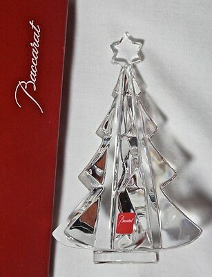 RARE Baccarat CHRISTMAS TREE with STAR figurine, double marked **NEW in BOX**