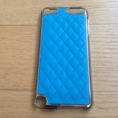 New Blue Hard Leather Case Cover & LCD Protector For iPod Touch 5G 5th Gen
