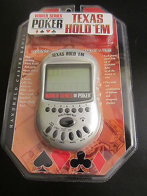 Texas Hold 'Em World Series of Poker Handheld Game NEW SEALED FREE SHIPPING